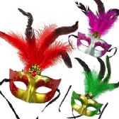 144 Units of GLITTER & FAUX GEM AND FEATHER MASKS. - Masks