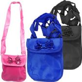300 Units of CROSS BODY PURSES W/ SEQUINED BOW.