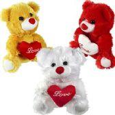 48 Units of PLUSH BEARS W/LOVE HEARTS.