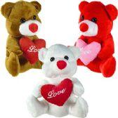 "48 Units of PLUSH FLANNEL BEARS W/ ""LOVE"" HEART."