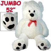2 Units of JUMBO PLUSH BEARS W/ HEART PAWS.