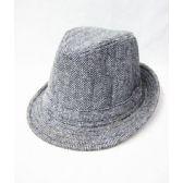 36 Units of Grey Wool Fedora Hat - Fedora Hat/Driver Cap/ Ivy Cap/Visor