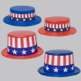 96 Units of Hat Patriotic Plastic - 4th Of July