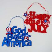 96 Units of Patriotic Hanging Decor - 4th Of July
