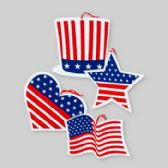 96 Units of Hanging Decor Patriotic - 4th Of July