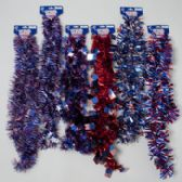 72 Units of Garland Tinsel Patriotic - 4th Of July