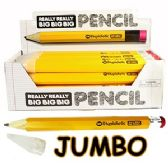 36 Units of REALLY BIG PENCILS WITH ERASERS