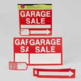 96 Units of Garage Sale Kit - Signs & Flags