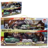 8 Units of 30 PIECE SUPER POWER ARMY PLAY SETS.