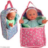 24 Units of BABY DOLLS IN SOFT CARRIER. - Dolls