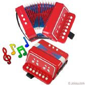 12 Units of JUNIOR ACCORDION MUSCIAL INTSTRUMENT - RED. - Musical