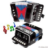 12 Units of JUNIOR ACCORDION MUSICAL INSTRUMENT - BLACK - Musical