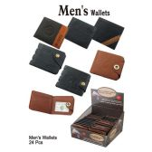 24 Units of ASSORTED MENS WALLETS