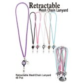 48 Units of RETRACTABLE MESH LANYARD - Necklace