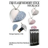 24 Units of USB MEMORY STICK NECKLACES - Necklace