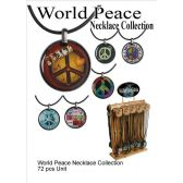 72 Units of WORLD PEACE NECKLACE COLLECTION - Necklace