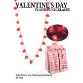 24 Units of VALENTINES DAY FLASHING NECKLACES