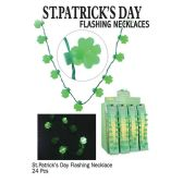 24 Units of SAINT PATRICKS DAY FLSH NECKLACES - St. Patricks