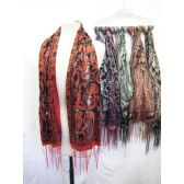 24 Units of Paisley Printed Scarves - Womens Fashion Scarves