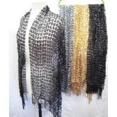 24 Units of Assorted Color Sequins Scarves - Womens Fashion Scarves