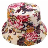 24 Units of FLORA PRINT BUCKET HATS - Bucket Hats