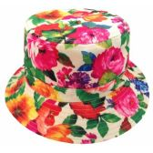 24 Units of FLORA PRINT REVERSIBLE BUCKET HATS - Bucket Hats