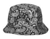 24 Units of PAISLEY PRINT REVERSIBLE BUCKET HATS - Bucket Hats