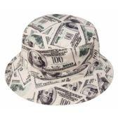 24 Units of DOLLAR PRINT REVERSIBLE BUCKET HATS - Bucket Hats