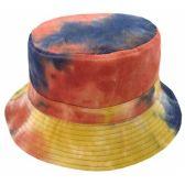 24 Units of TIE DYE PRINT REVERSIBLE BUCKET HATS IN RUST - Bucket Hats