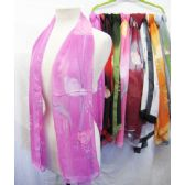 36 Units of Printed Assorted Color Scarves