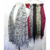36 Units of Zebra Printed Scarves - Womens Fashion Scarves