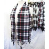 36 Units of Fleece Plaid Scarves - Winter Scarves