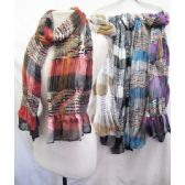 24 Units of Assorted Color Scarves - Womens Fashion Scarves
