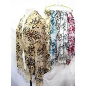 24 Units of Printed Assorted Color Scarves - Womens Fashion Scarves