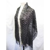 24 Units of Grey Sequin Scarves - Womens Fashion Scarves