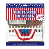 24 Units of Bunting Patriotic Polyester
