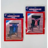 72 Units of Chair Bow Patriot Velvet Deluxe - 4th Of July