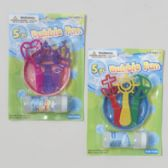 36 Units of Bubble Playset 2ast W/2oz Bubble Solution Pirate/princess Wand Shapes Blister Card