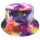 12 Units of GALAXY PRINT REVERSIBLE BUCKET HATS IN NAVY - Bucket Hats