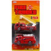 72 Units of 2 Piece Fire Rescue Truck - Cars/Planes/Train/Bikes