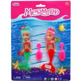 96 Units of 2 Piece Mermaid Dolls w. Hair Brush - Dolls