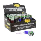 60 Units of 7 LED Flashlight Keychain - Flash Lights