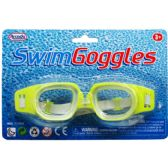 "144 Units of 6"" SWIMMING GOGGLES IN BLISTER CARD, 4 ASSRT CLRS - Summer Toys"
