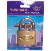 72 Units of YUNHUAN IRON PADLOCK - Padlocks and Combination Locks