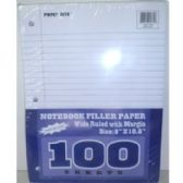 48 Units of 100 SHEET FILLER PAPER- WIDE RULED - PAPER