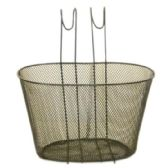 12 Units of BLACK WIRE BASKET FOR BIKE 30X23X19CM - Biking
