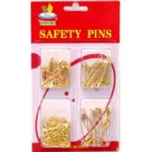144 Units of 125PC GOLD SAFETY PINS - SAFETY PINS