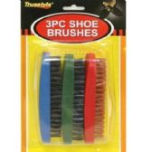 48 Units of 3PC SHOE BRUSHES 5X2x1.8 IN - Footwear Accessories