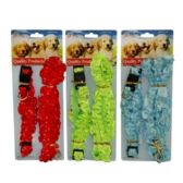 120 Units of DOG LEAD AND COLLAR W RUFFLE - Pet Accessories