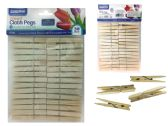 120 Units of 30 Piece Wooden Clothespin - Clothes Pins